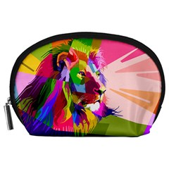 Animal Colorful Decoration Lion Accessory Pouches (large)  by Simbadda
