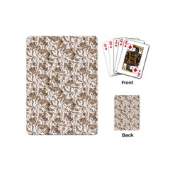 Leaves Texture Pattern Playing Cards (mini)  by dflcprints