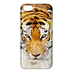 Tiger Watercolor Colorful Animal Apple Iphone 5c Hardshell Case by Simbadda