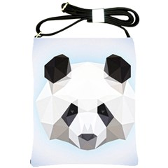 Background Show Graphic Art Panda Shoulder Sling Bags by Simbadda