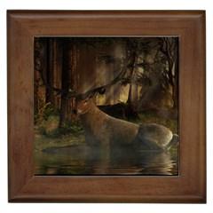 Mammal Nature Wood Tree Waters Framed Tiles by Simbadda