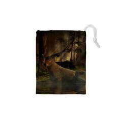 Mammal Nature Wood Tree Waters Drawstring Pouches (xs)