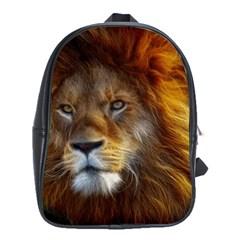 Fractalius Big Cat Animal School Bag (large) by Simbadda