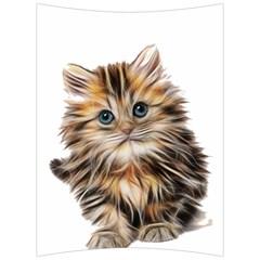 Kitten Mammal Animal Young Cat Back Support Cushion by Simbadda