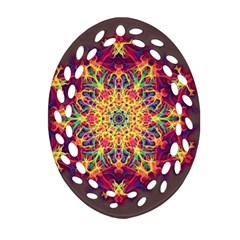 Joyful Living Ornament (oval Filigree) by aumaraspiritart