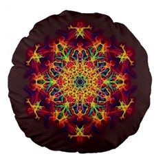 Joyful Living Large 18  Premium Flano Round Cushions by aumaraspiritart