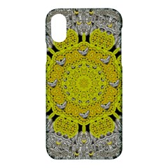 Sunshine And Silver Hearts In Love Apple Iphone X Hardshell Case by pepitasart