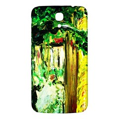 Old Tree And House With An Arch 4 Samsung Galaxy Mega I9200 Hardshell Back Case by bestdesignintheworld