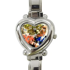 Pagoda And Calligraphy Heart Italian Charm Watch by bestdesignintheworld