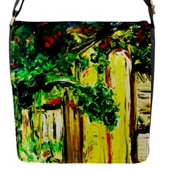 Old Tree And House With An Arch 2 Flap Messenger Bag (s) by bestdesignintheworld