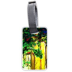 Old Tree And House With An Arch 2 Luggage Tags (two Sides) by bestdesignintheworld