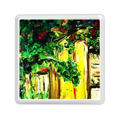 Old Tree And House With An Arch 2 Memory Card Reader (square)  by bestdesignintheworld