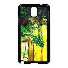 Old Tree And House With An Arch 2 Samsung Galaxy Note 3 Neo Hardshell Case (black) by bestdesignintheworld