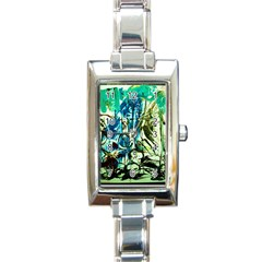 Clocls And Watches 3 Rectangle Italian Charm Watch by bestdesignintheworld