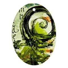 Pagoda Calligraphy 2 Ornament (oval) by bestdesignintheworld