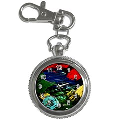 Tumble Weed And Blue Rose 1 Key Chain Watches by bestdesignintheworld