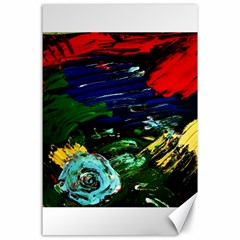 Tumble Weed And Blue Rose 1 Canvas 24  X 36  by bestdesignintheworld