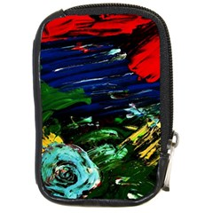 Tumble Weed And Blue Rose 1 Compact Camera Cases by bestdesignintheworld