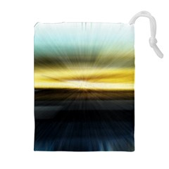 Hunstanton Beach At Summer  Drawstring Pouches (extra Large) by bywhacky
