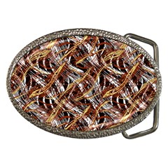 Colorful Wavy Abstract Pattern Belt Buckles by dflcprints