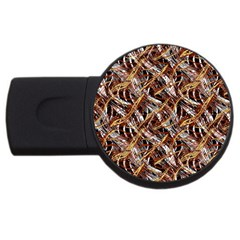 Colorful Wavy Abstract Pattern Usb Flash Drive Round (4 Gb) by dflcprints