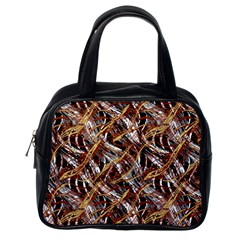 Colorful Wavy Abstract Pattern Classic Handbags (one Side) by dflcprints