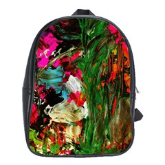 Sunset In A Mountains 1 School Bag (large) by bestdesignintheworld
