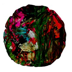 Sunset In A Mountains 1 Large 18  Premium Flano Round Cushions by bestdesignintheworld