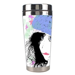 Girl With Hat Stainless Steel Travel Tumblers by snowwhitegirl