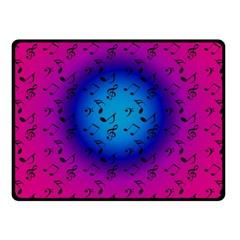 Pink Music Blue  Moon Fleece Blanket (small) by snowwhitegirl