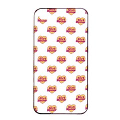 Girl Power Logo Pattern Apple Iphone 4/4s Seamless Case (black) by dflcprints