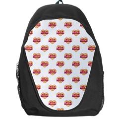 Girl Power Logo Pattern Backpack Bag by dflcprints