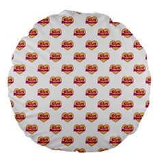 Girl Power Logo Pattern Large 18  Premium Flano Round Cushions by dflcprints
