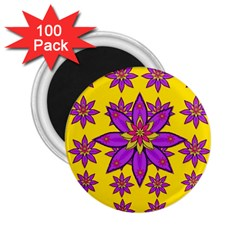 Fantasy Big Flowers In The Happy Jungle Of Love 2 25  Magnets (100 Pack)  by pepitasart