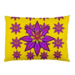 Fantasy Big Flowers In The Happy Jungle Of Love Pillow Case by pepitasart