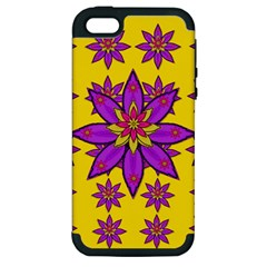Fantasy Big Flowers In The Happy Jungle Of Love Apple Iphone 5 Hardshell Case (pc+silicone) by pepitasart