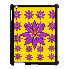 Fantasy Big Flowers In The Happy Jungle Of Love Apple Ipad 3/4 Case (black) by pepitasart