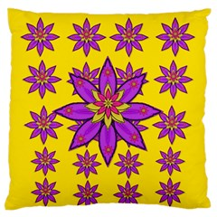 Fantasy Big Flowers In The Happy Jungle Of Love Standard Flano Cushion Case (one Side) by pepitasart