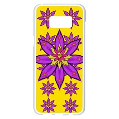 Fantasy Big Flowers In The Happy Jungle Of Love Samsung Galaxy S8 Plus White Seamless Case by pepitasart