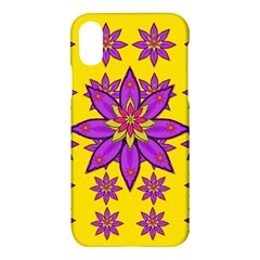 Fantasy Big Flowers In The Happy Jungle Of Love Apple Iphone X Hardshell Case by pepitasart