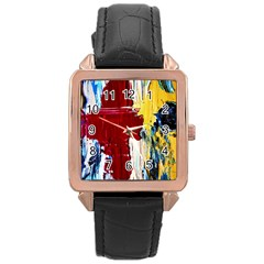 Point Of View #2 Rose Gold Leather Watch  by bestdesignintheworld