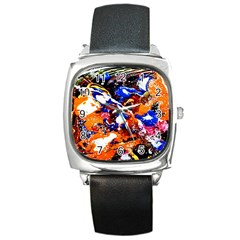 Smashed Butterfly Square Metal Watch by bestdesignintheworld