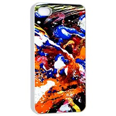Smashed Butterfly Apple Iphone 4/4s Seamless Case (white) by bestdesignintheworld