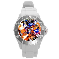 Smashed Butterfly Round Plastic Sport Watch (l) by bestdesignintheworld