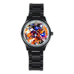 Smashed Butterfly Stainless Steel Round Watch by bestdesignintheworld