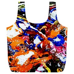 Smashed Butterfly Full Print Recycle Bags (l)  by bestdesignintheworld