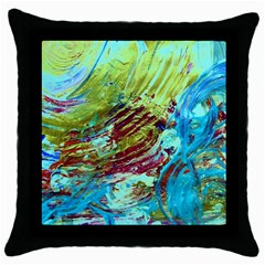 June Gloom 12 Throw Pillow Case (black)