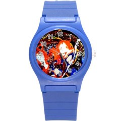Smashed Butterfly 8 Round Plastic Sport Watch (s) by bestdesignintheworld