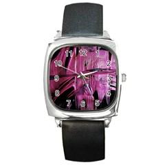 Foundation Of Grammer 3 Square Metal Watch by bestdesignintheworld