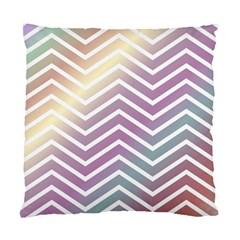 Ombre Zigzag 01 Standard Cushion Case (one Side) by snowwhitegirl